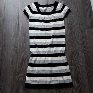 Dresses & Skirts - Black/grey/white striped tunic